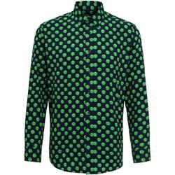 Kleidung Herren Langärmelige Hemden Christmas Shop Claus/Sprout Rosenkohl/Marineblau