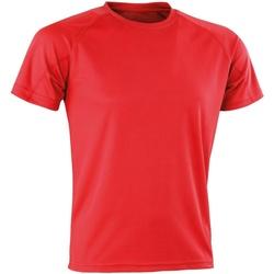 Kleidung T-Shirts Spiro Aircool Rot