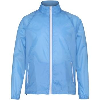 Kleidung Herren Windjacken 2786 TS011 Himmelblau/Weiß