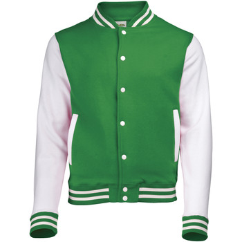 Kleidung Jacken Awdis JH043 Kellygrün/Weiß