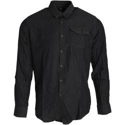 Kleidung Herren Langärmelige Hemden Premier PR222 Schwarz Denim