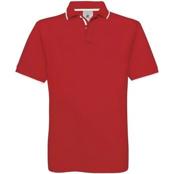 Kleidung Herren Polohemden B And C BA351 Rot/Weiß