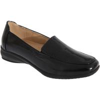Schuhe Damen Slipper Boulevard  Schwarz glänzend