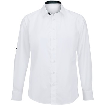 Kleidung Herren Langärmelige Hemden Alexandra Hospitality Weiß/Schwarz