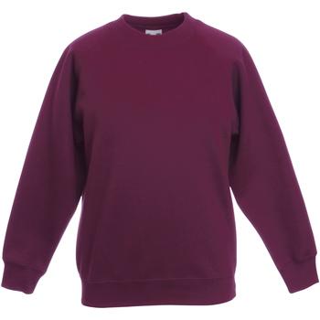 Kleidung Kinder Sweatshirts Fruit Of The Loom 62039 Burgunder
