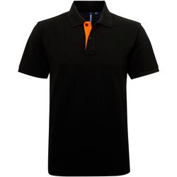 Kleidung Herren Polohemden Asquith & Fox AQ012 Schwarz/Orange