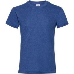 Kleidung Mädchen T-Shirts Fruit Of The Loom Valueweight Retro Heidekraut Royal