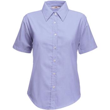 Kleidung Damen Hemden Fruit Of The Loom 65000 Oxford Blau