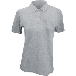 Kleidung Damen Polohemden Anvil 6280L Hellgrau