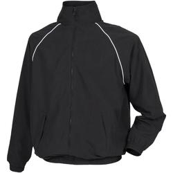 Kleidung Kinder Jacken Tombo Teamsport TL409 Schwarz/Weiße Paspelierung