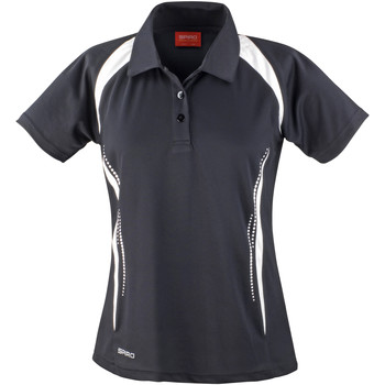 Kleidung Damen Polohemden Spiro S177F Schwarz/Weiß