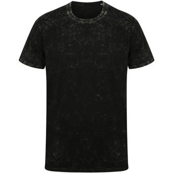 Kleidung T-Shirts Skinni Fit SF203 Wasch Schwarz