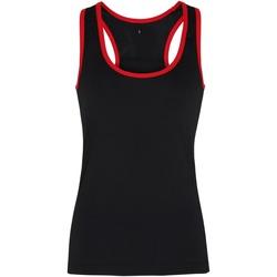 Kleidung Damen Tops Tridri TR023 Schwarz/Rot