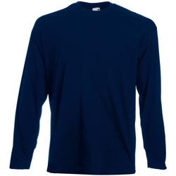 Kleidung Herren Langarmshirts Universal Textiles 61038 Mitternacht Blau