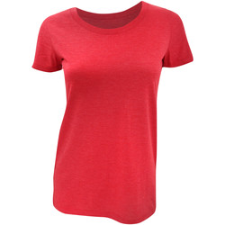Kleidung Damen T-Shirts Bella + Canvas BE8413 Rot Triblend