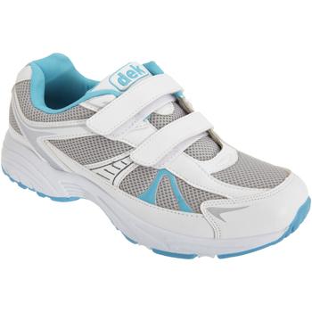 Schuhe Damen Sneaker Low Dek  Weiß/Blau