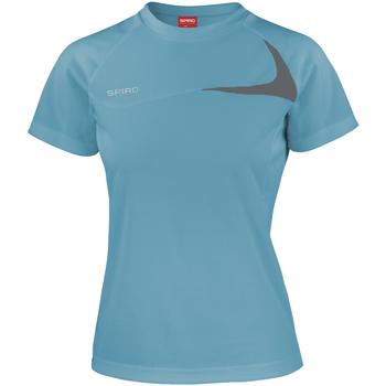 Kleidung Damen T-Shirts Spiro S182F Wasserblau/Grau