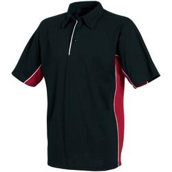 Kleidung Herren Polohemden Tombo Teamsport TL065 Schwarz/Rot/Weiß