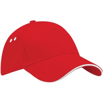 Accessoires Schirmmütze Beechfield B15C Rot/Weiß