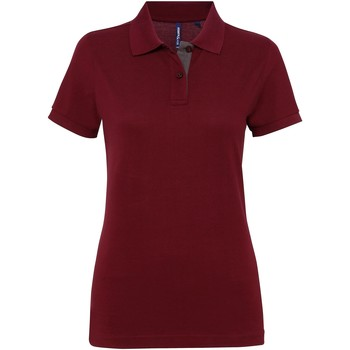 Kleidung Damen Polohemden Asquith & Fox Contrast Burgunder/Graphit