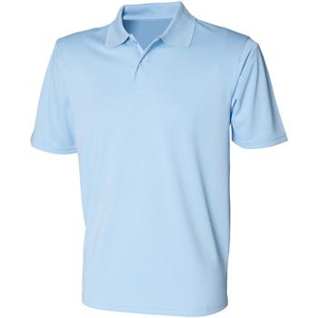 Kleidung Herren Polohemden Henbury HB475 Hellblau