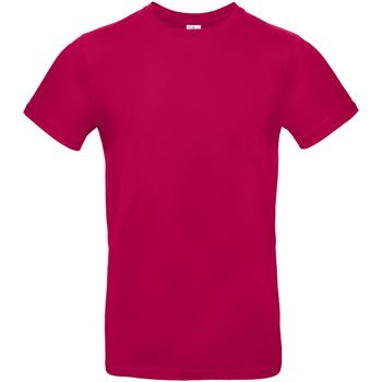 Kleidung Herren T-Shirts B And C TU03T Dunkles Pink