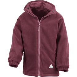 Kleidung Kinder Fleecepullover Result R160JY Burgunder/Burgunder