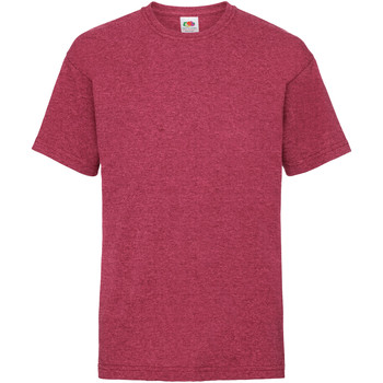 Kleidung Kinder T-Shirts Fruit Of The Loom 61033 Vintage Rot meliert
