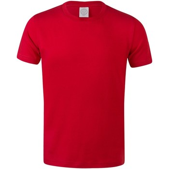Kleidung Kinder T-Shirts Skinni Fit SM121 Hell Rot