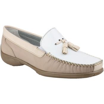 Schuhe Damen Slipper Cotswold BIDDLESTONE Weiß/Beige/Braun