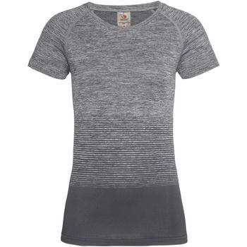 Kleidung Damen T-Shirts Stedman  Hellgrauer Farbverlauf
