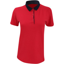 Kleidung Damen Polohemden Anvil 6280L Rot/Marineblau