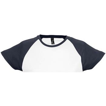 Kleidung Damen T-Shirts Sols Milky Weiß/Marineblau