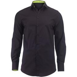 Kleidung Herren Langärmelige Hemden Alexandra Hospitality Schwarz/Lime