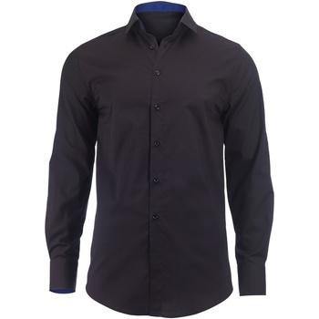 Kleidung Herren Langärmelige Hemden Alexandra Hospitality Schwarz/Royal