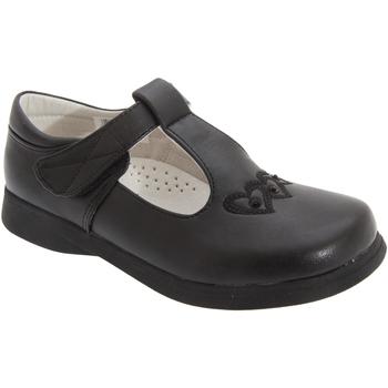 Schuhe Mädchen Ballerinas Boulevard  Schwarz matt