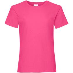 Kleidung Mädchen T-Shirts Fruit Of The Loom Valueweight Fuchsie