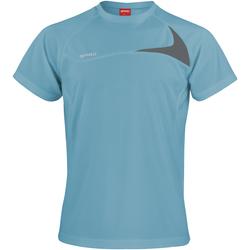 Kleidung Herren T-Shirts Spiro S182M Wasserblau/Grau