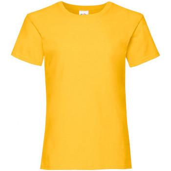 Kleidung Mädchen T-Shirts Fruit Of The Loom 61005 Sonnenblume