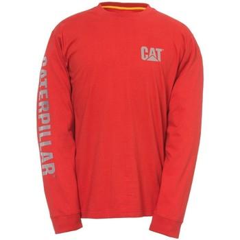 Kleidung Herren Langarmshirts Caterpillar  Rot