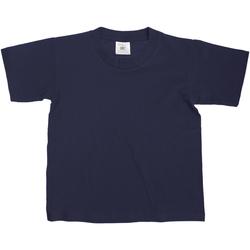 Kleidung Kinder T-Shirts B And C TK300 Dunkelblau