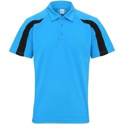 Kleidung Herren Polohemden Awdis JC043 Saphir Blau/Jet Schwarz