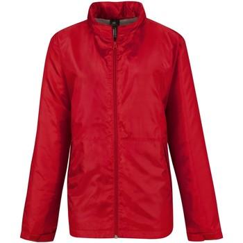 Kleidung Damen Windjacken B And C B656F Rot/warmes Grau