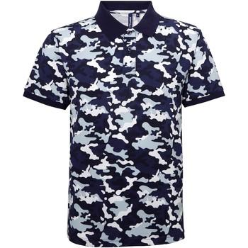 Kleidung Herren Polohemden Asquith & Fox AQ018 Camo Blau