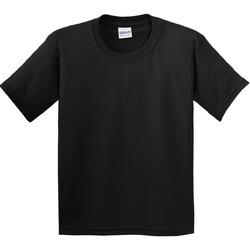 Kleidung Kinder T-Shirts Gildan 5000B Schwarz