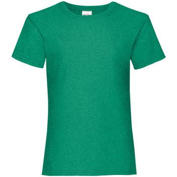Kleidung Mädchen T-Shirts Fruit Of The Loom 61005 Grün