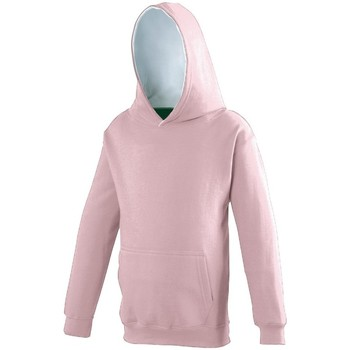 Kleidung Kinder Sweatshirts Awdis JH03J Rosa/Arctic Weiß