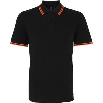 Kleidung Herren Polohemden Asquith & Fox AQ011 Schwarz/Orange