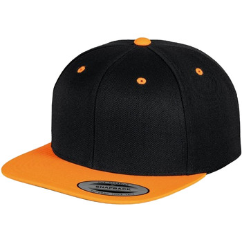 Accessoires Schirmmütze Yupoong YP002 Schwarz/Neon Orange