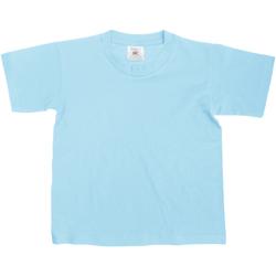 Kleidung Kinder T-Shirts B And C TK300 Himmelblau